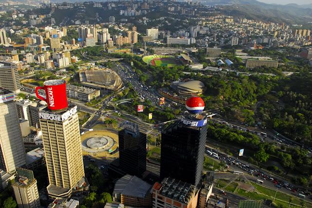 Panorámica de Caracas en Venezuela