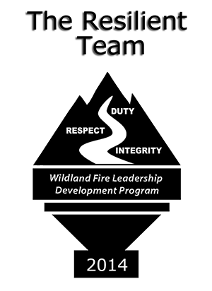 2014 Wildland Fire Leadership Campaign - The Resilient Team logo