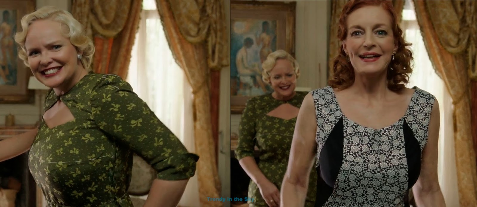Frau Braun en su casa dándole el anticipo del vestido nuevo a Sira ...