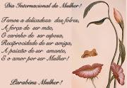 Mensagem dia da Mulher. Por: LEI FcaMoreira