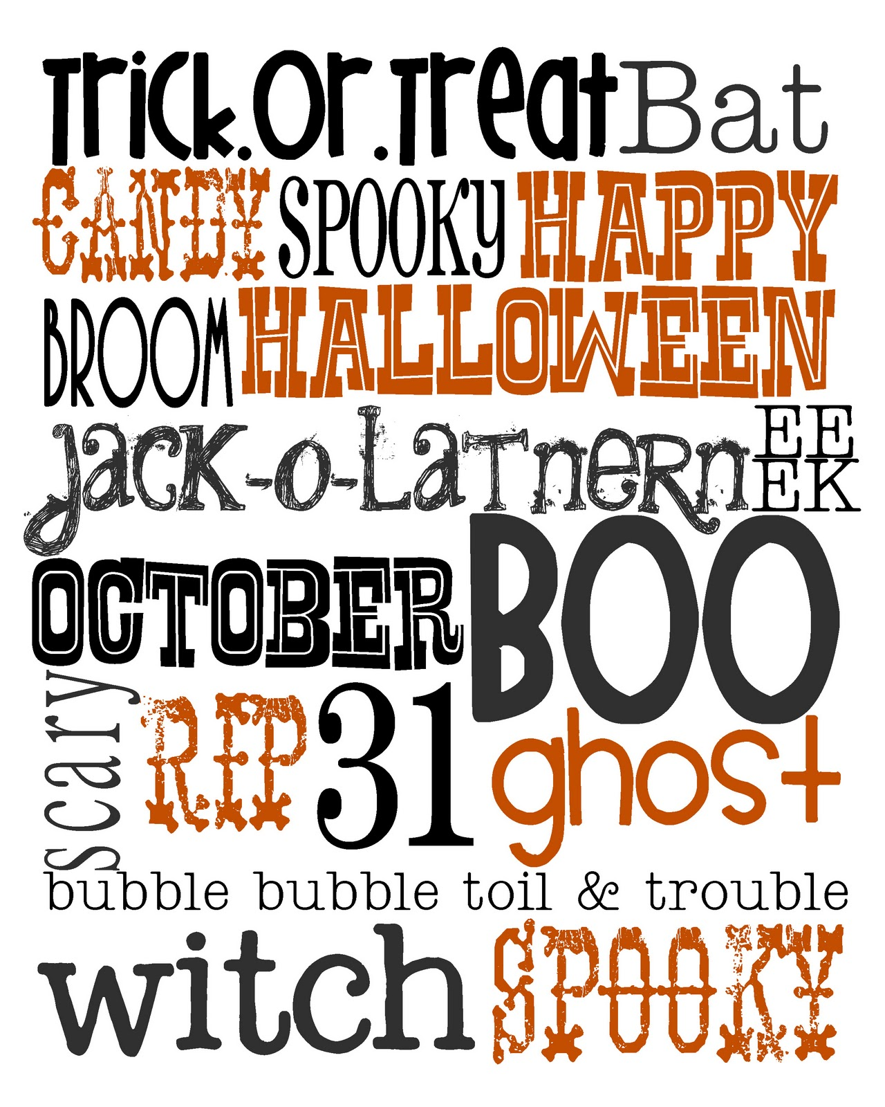 Lovely Little Snippets: Happy October! {Free Halloween Printable}