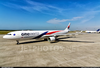 Malaysia Airlines A330-300 9M-MTE in oneworld alliance livery.