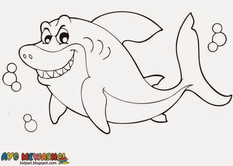Gambar Mewarnai Ikan Hiu