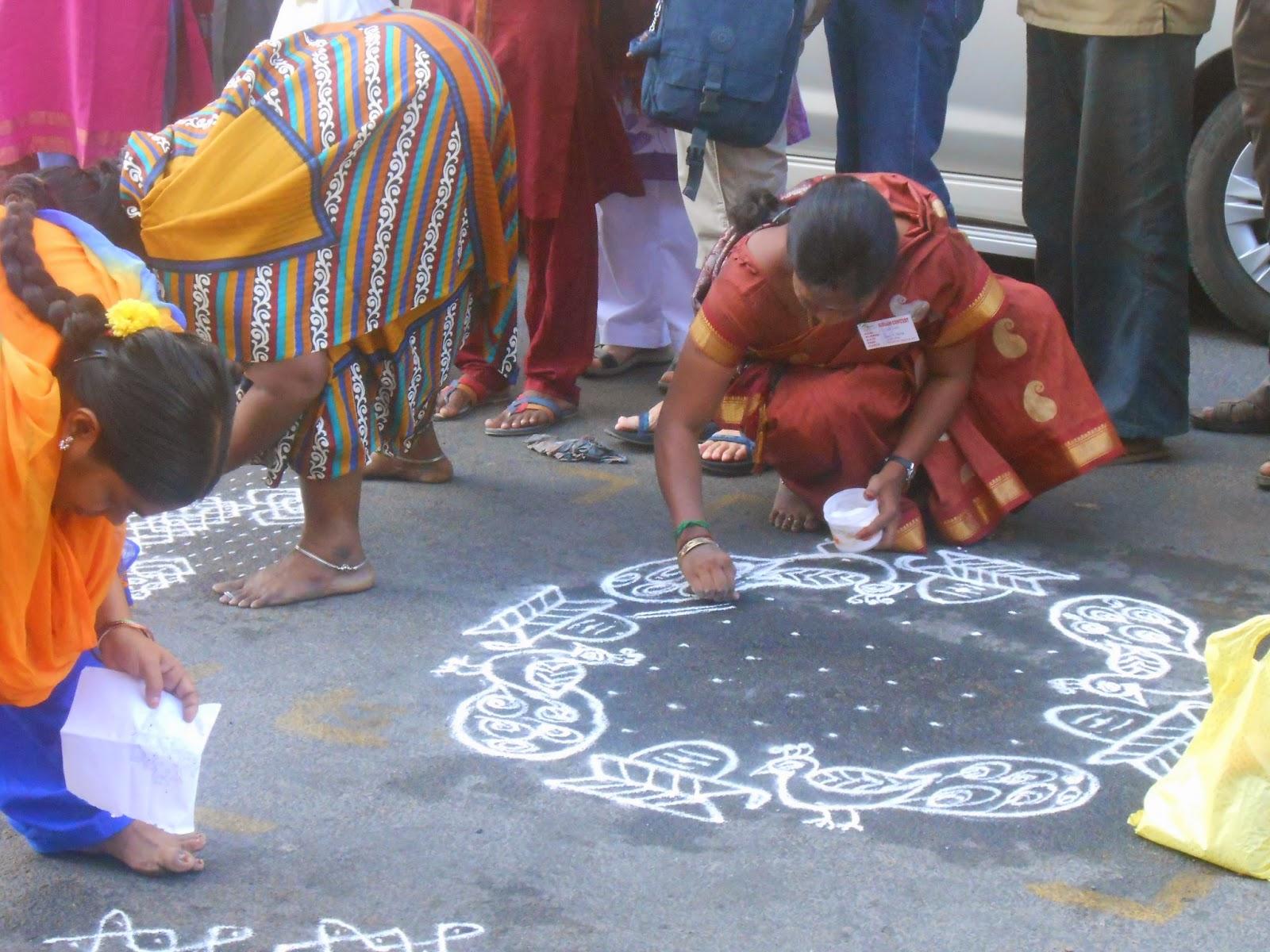 India,Chennai,Madras,Mylapore Festival,Kolam,