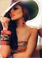 Cheryl Cole portrait with a hat