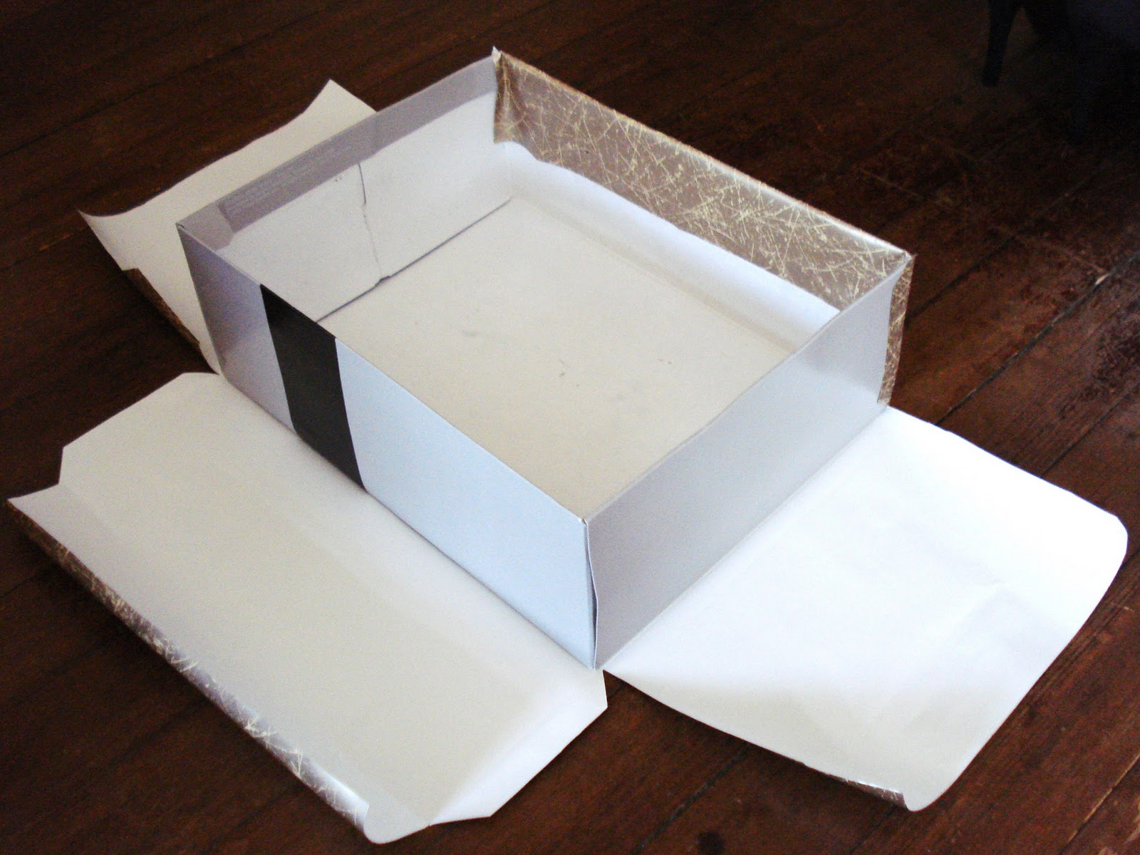 how to make a paper box with cover