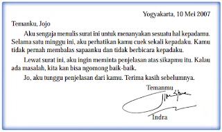 Surat pribadi yaitu
