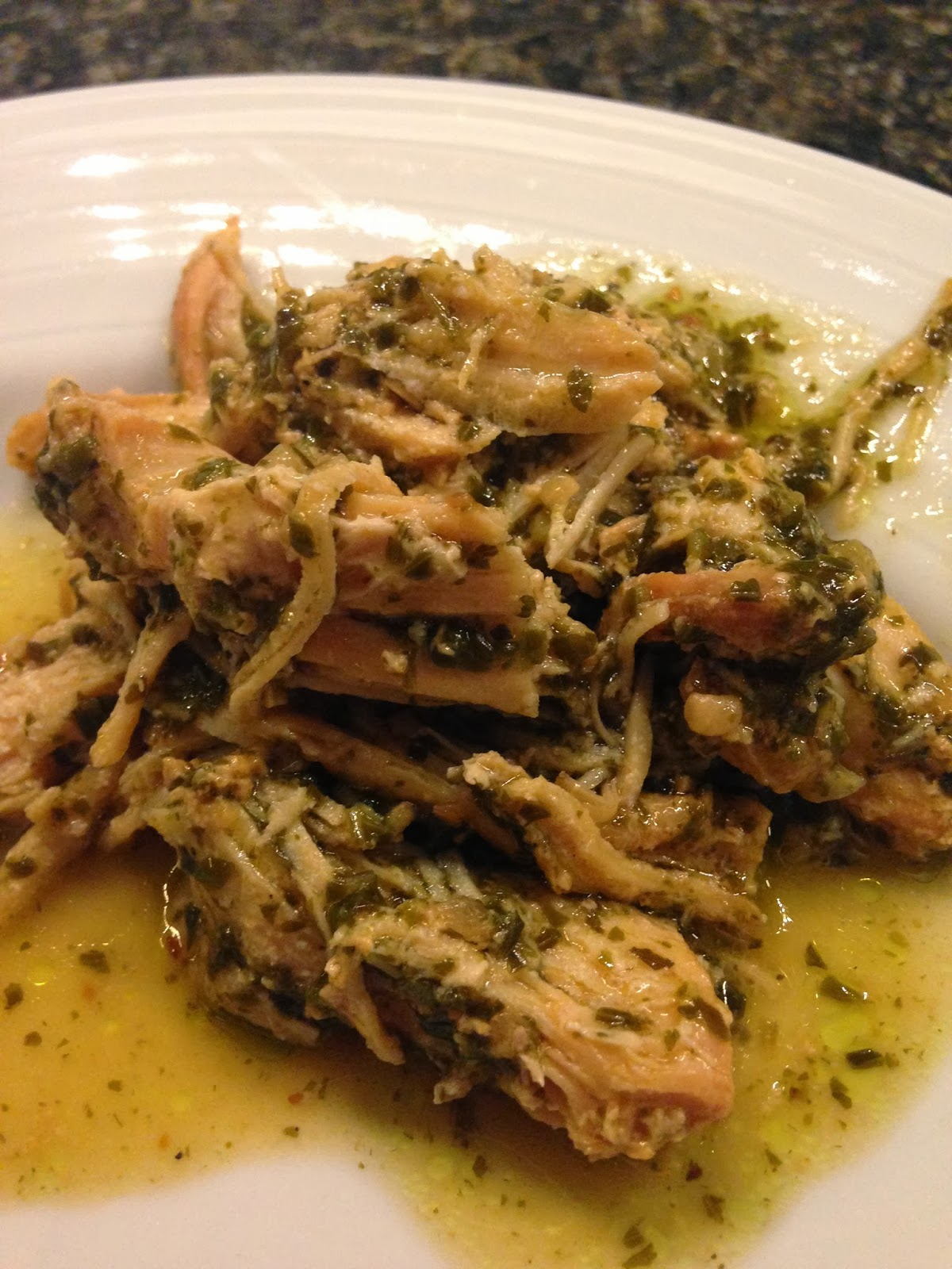 Tricks of the Mommy Trade: Crock Pot Pesto Ranch Chicken