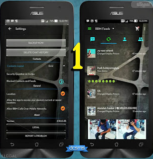 Download Apk BBM Mod Full Transparan Versi 2.11.0.16