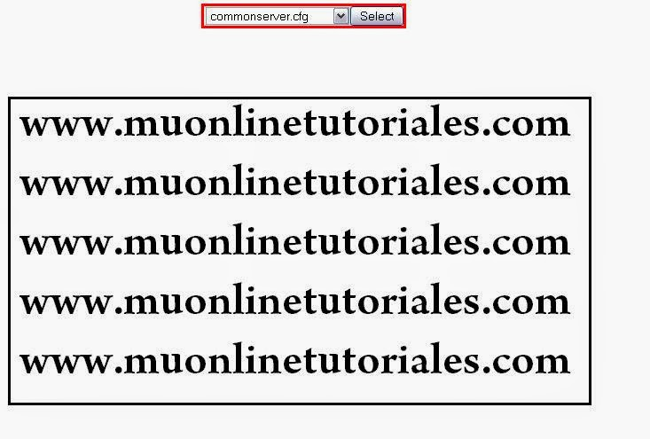 Interfaz del editor