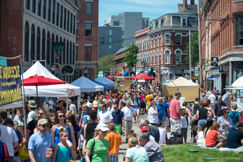 Portland, Maine USA June 2015 Old Port Festival on Fore Street at Boothby Square photo by Corey Templeton.