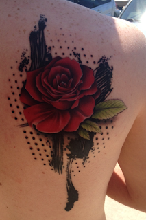 Rose Tattoo Trash Polka Style