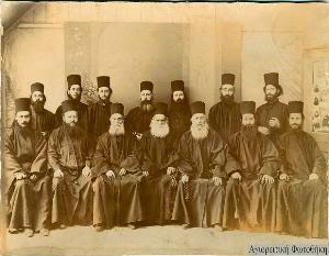 Μέλη της Ελληνικής κελλιωτικής αδελφότητας του Αγίου Όρους