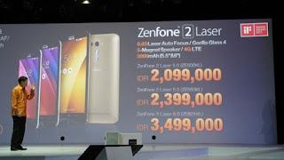 Harga jual ASUS Zenfone 2 laser