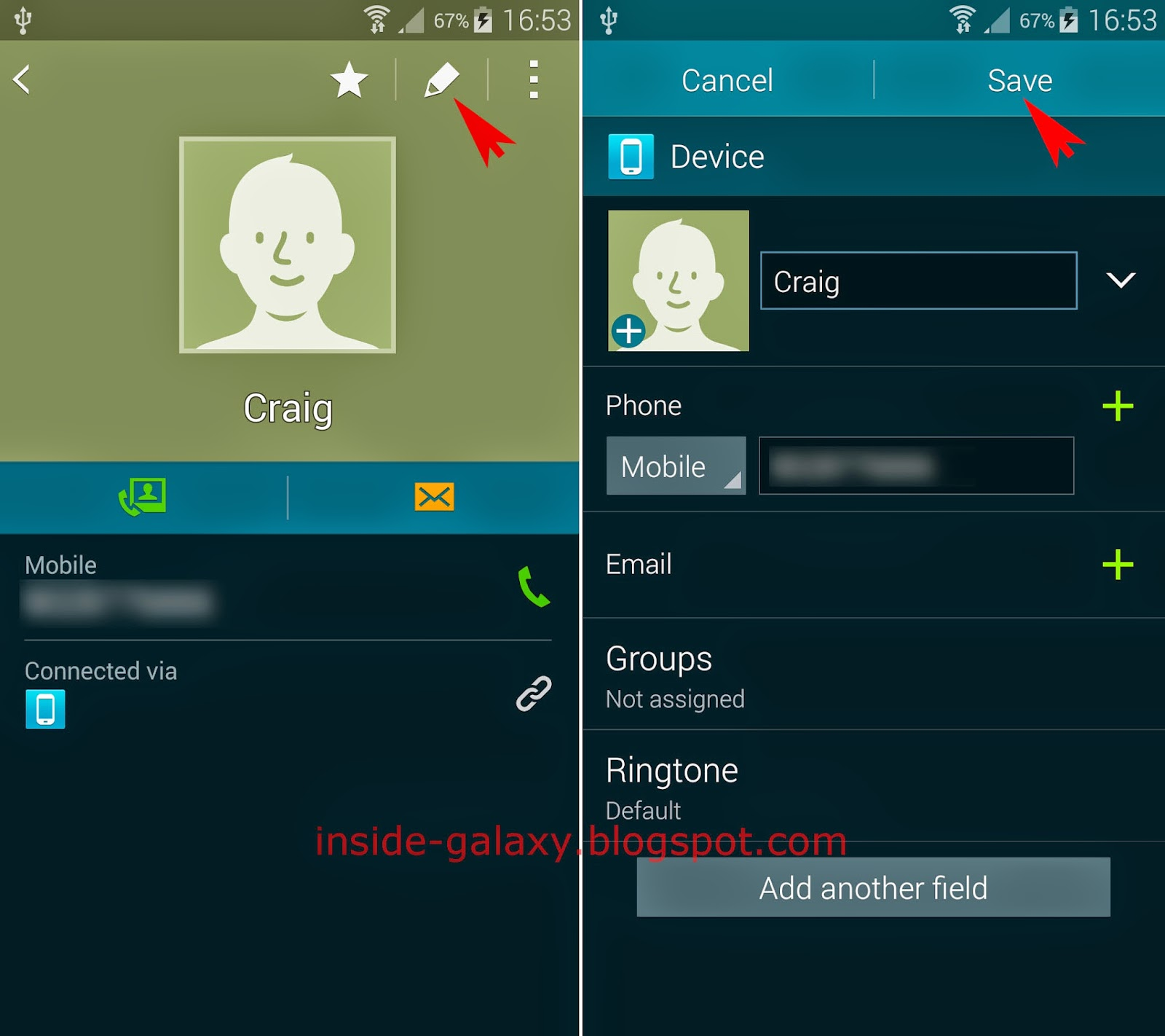 Samsung Galaxy S5: How To Edit Existing Contact In Android 442 Kitkat