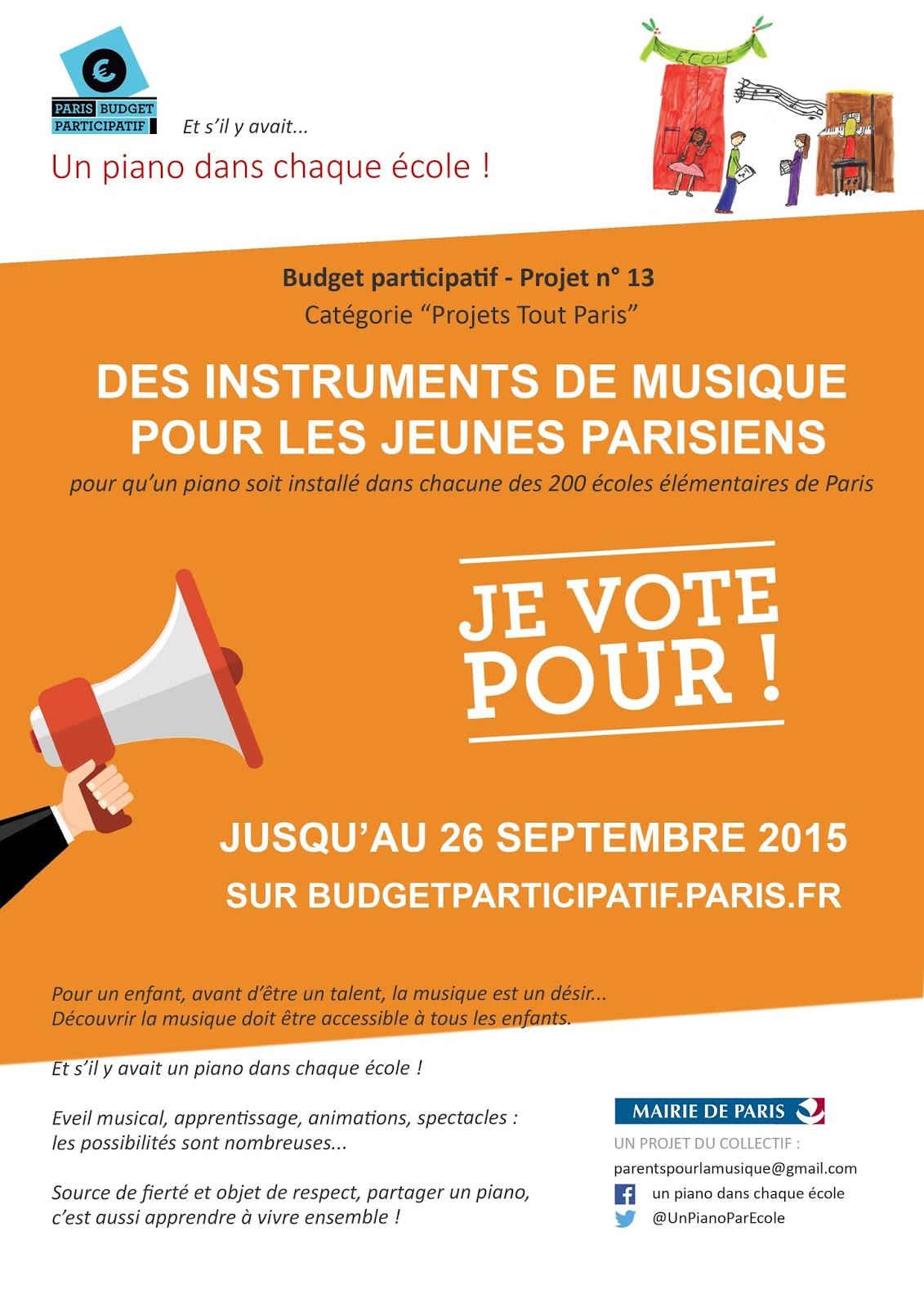 Parents pour la musique en ce moment votez pour des - Un piano dans la theiere ...
