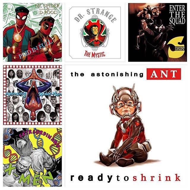 Marvel lançou covers de capas de alguns álbuns de Hip-Hop