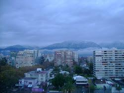 Vista de la Cordillera en Santiago