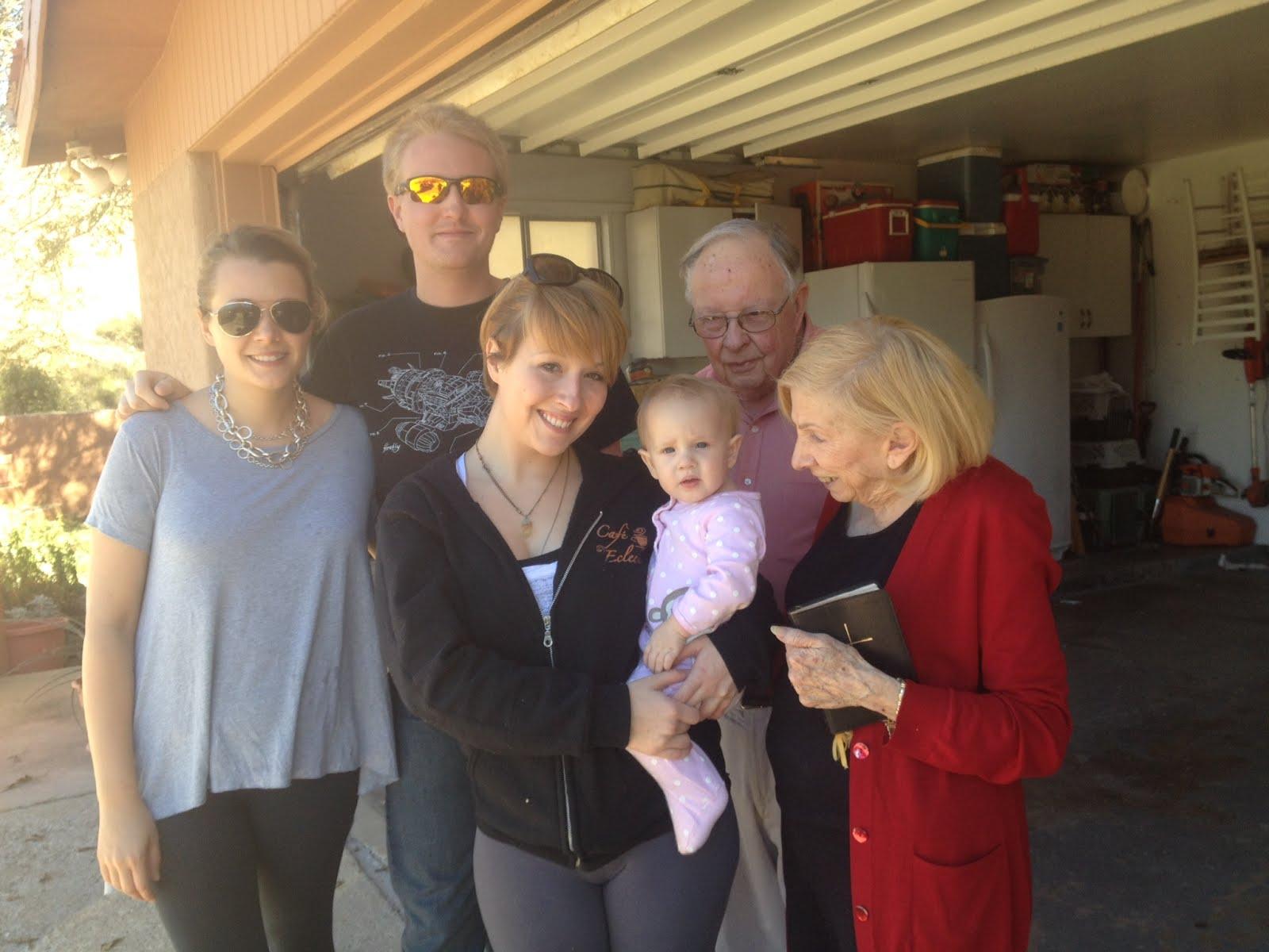 Rachel, Dustin, Laura & Cutie Catie