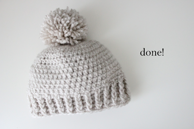 Crocheted Ribbed Beanie Free Pattern