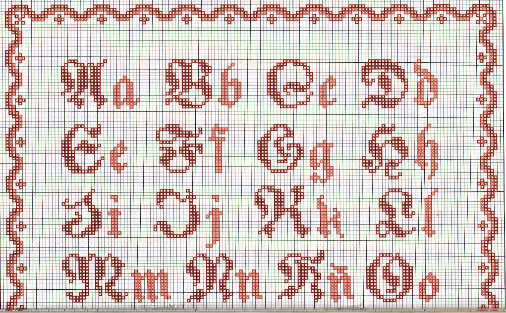 Bonito Letras Del Alfabeto Patrón Que Hace Punto Foto - Manta de ...