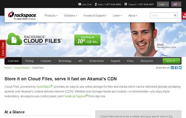 Rackspace cloud file service