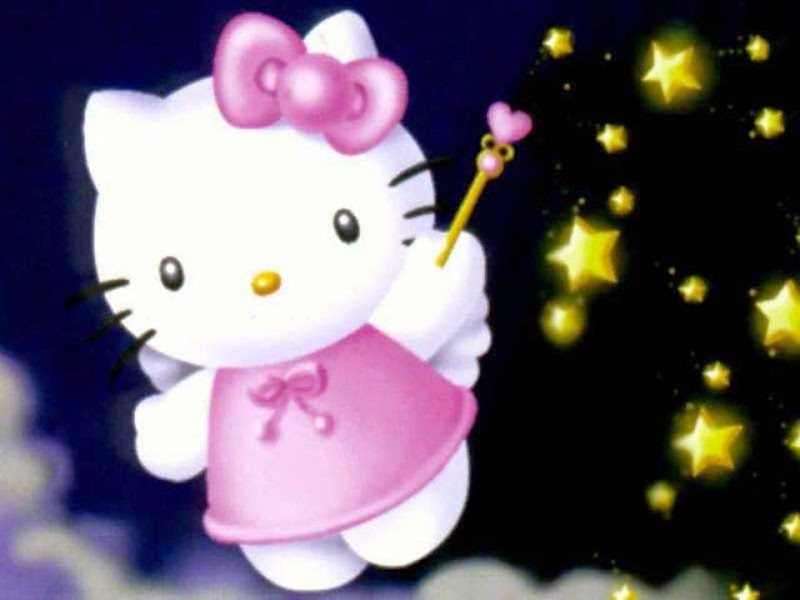 Gambar Hello Kitty ungu wallpaper gratis