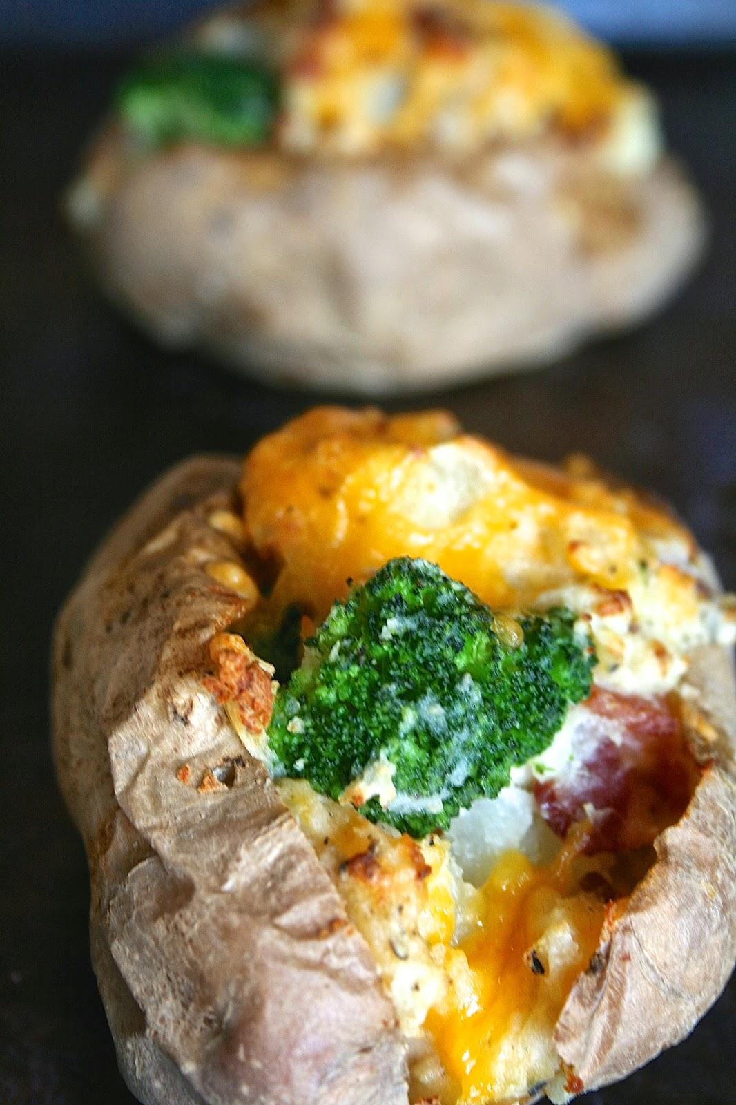 Oregon Transplant: Broccoli, Cheese, & Bacon Twice-Baked Potatoes