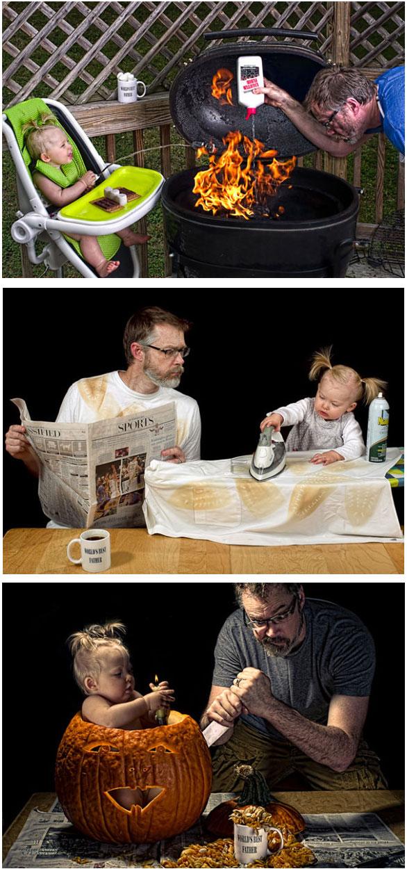 Gelagat Seorang Bapa Menjaga Anak (18 Gambar)