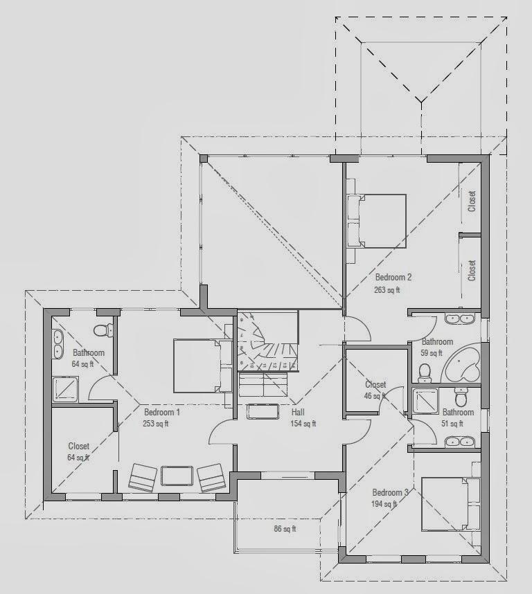 Plantas de casas modernas planta de casa moderna e for Casa moderna 6 parte 2