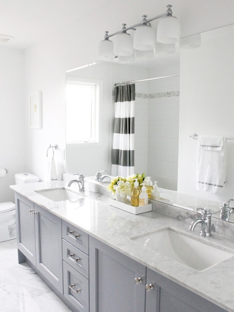 SuburbanSpunkDesign.com : Guest Bath Inspiration and Plan