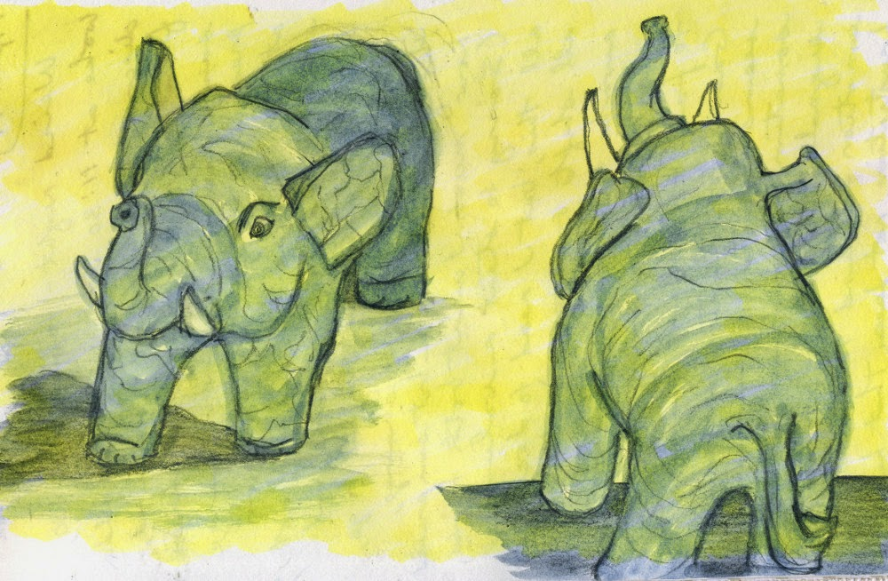 water for elephants journal Elephant: elephant, largest living land animal, characterized by its long trunk, columnar legs, and huge head with temporal glands and wide, flat ears elephants are grayish to brown in color, and their body hair is sparse and coarse.