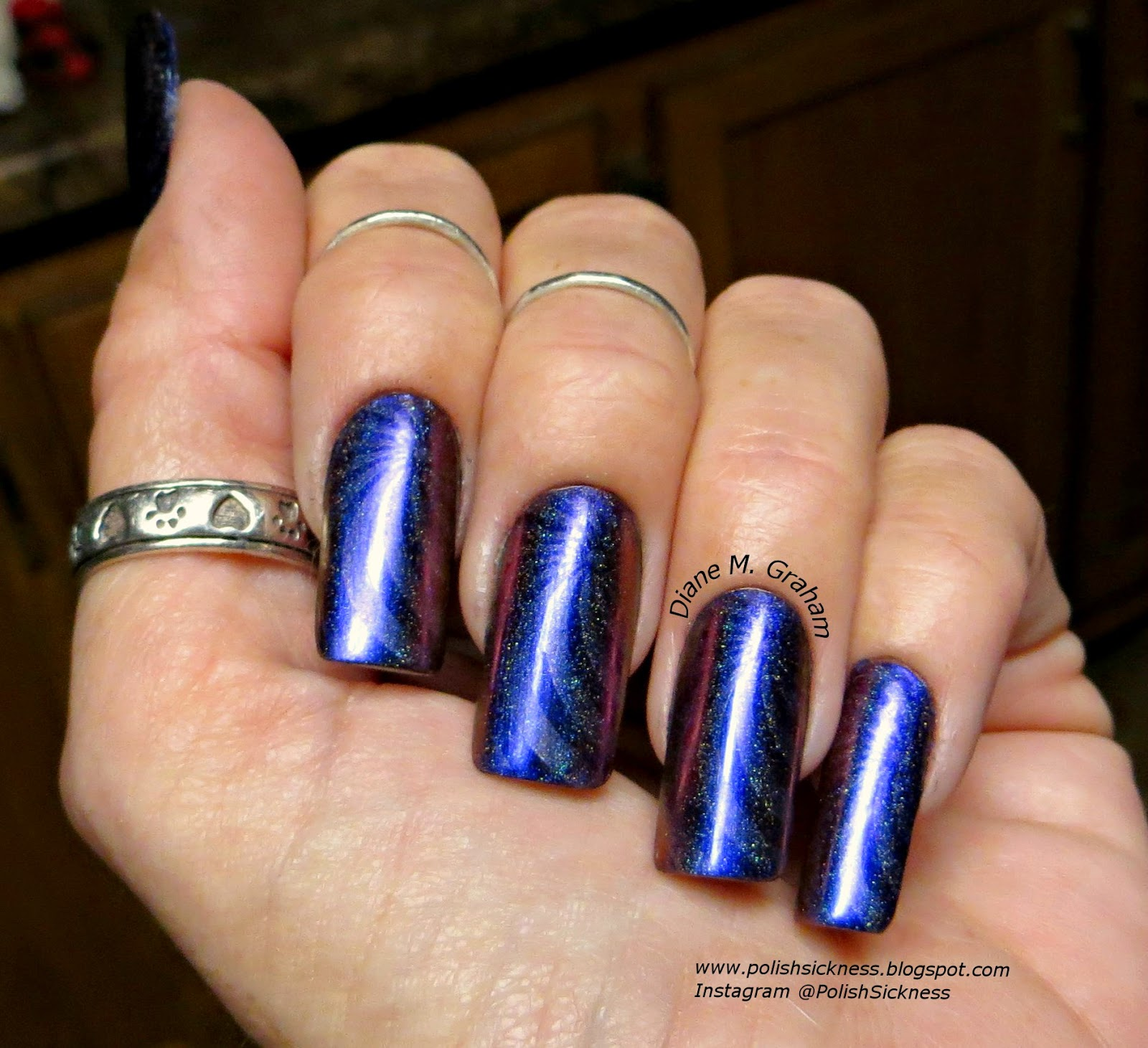 ILNP Cygnus Loop Holo, OPI DS Sapphire, Ali Express 12-51 holo stamp