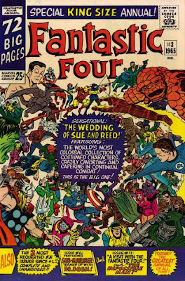 Fantastic Four Annual #3, the wedding of Reed and Sue, Dr Doom, cover