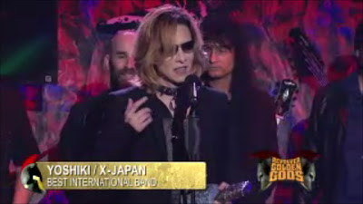 "X Japan wins the ""Best International Band"" Award at the Golden Gods Awards"