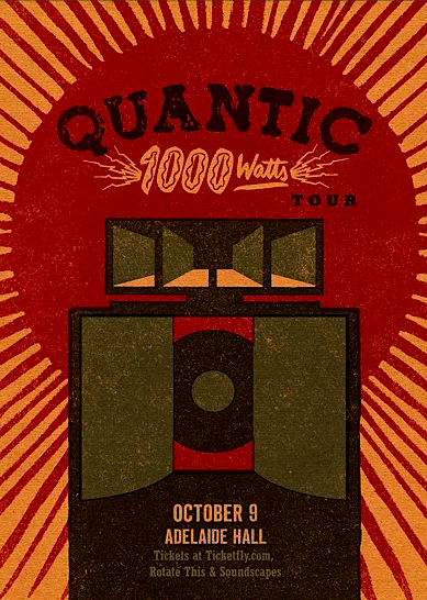 Quantic (w/ full band) @ Adelaide Hall, October 9