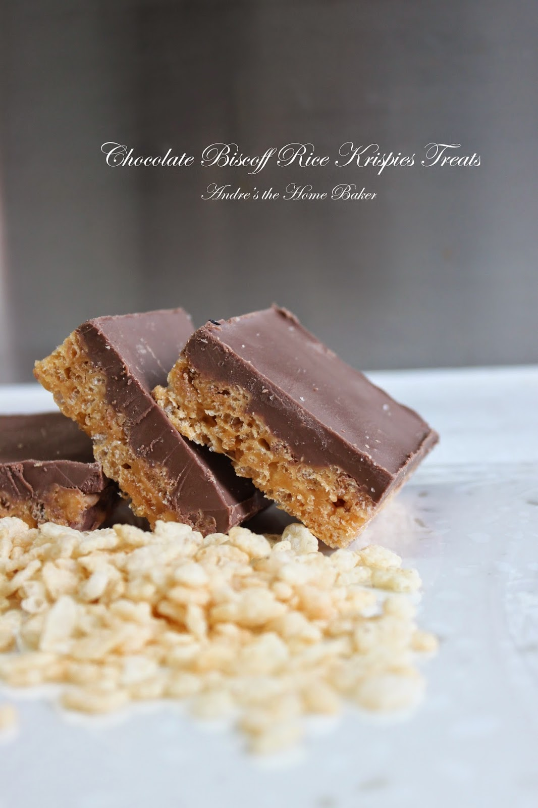 Andre's the Home Baker: ♥ Chocolate Biscoff Rice Krispies Treats ♥