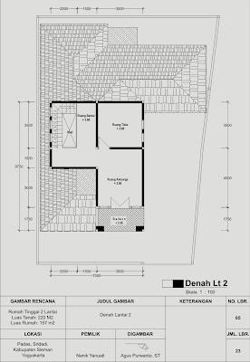 contoh gambar imb rumah 2 lantai