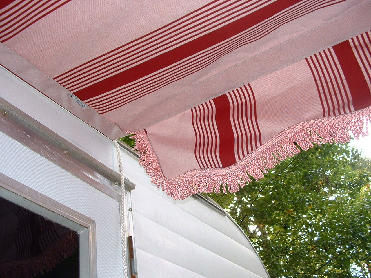 Vintage Awnings Pink Heavy Bullion Fringe On A Vintage Trailer Awning By Kristi
