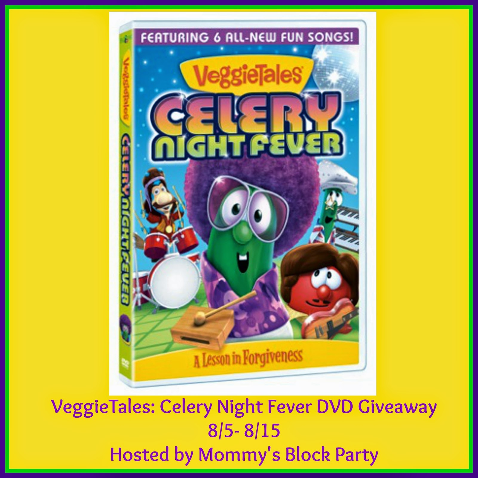 veggietales celery night fever dvd review giveaway