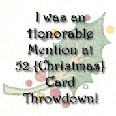 I'm an honorable mention at 52 Christmas Card Throwdon