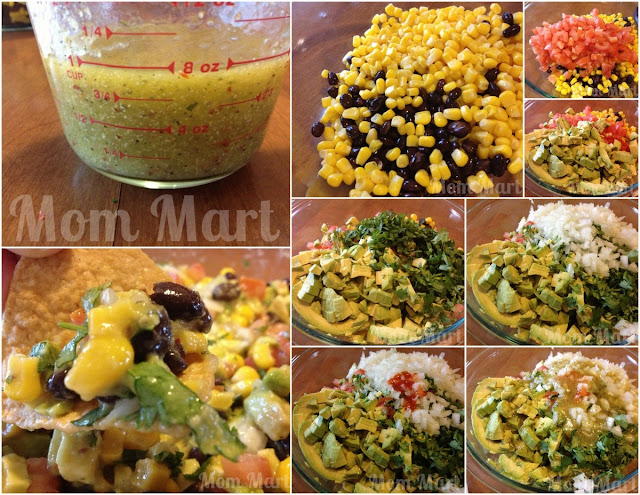 Black Bean Avocado Corn Salsa