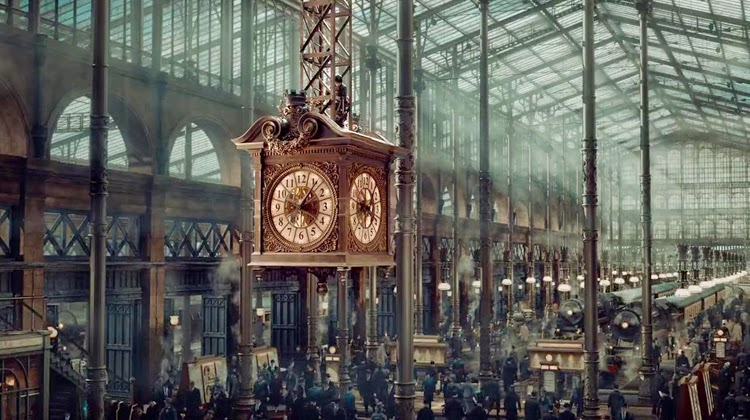 paris architecture, invention of hugo cabret, set decor, set design