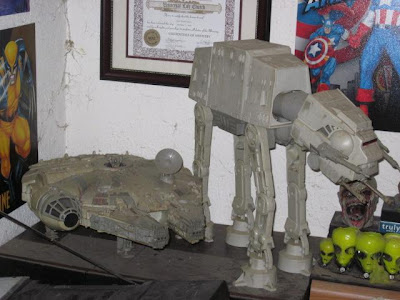 AT-AT and Millenium Falcon