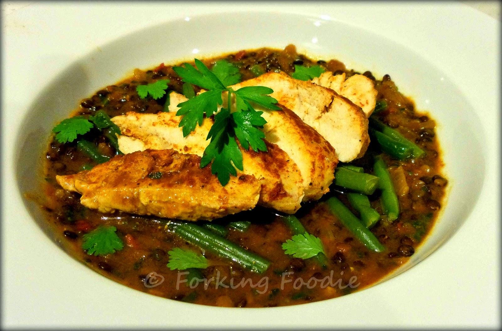 Harissa chicken and lentil stew thermomix