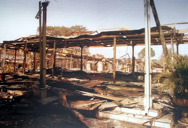 residual debris fires Surakarta palace