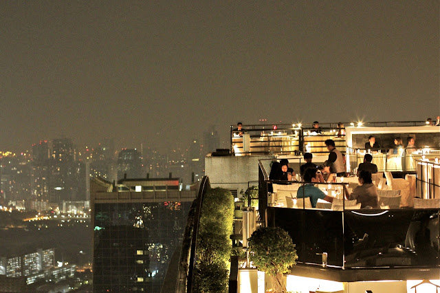 Banyan Tree Hotel's rooftop restaurant and bar bangkok thailand