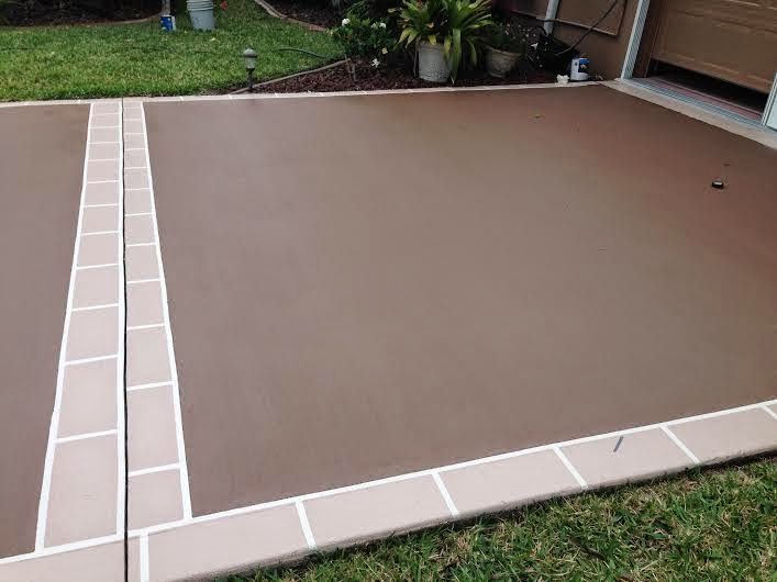 Vero beach painting faux finishes 772 801 9711 for Can i paint asphalt driveway
