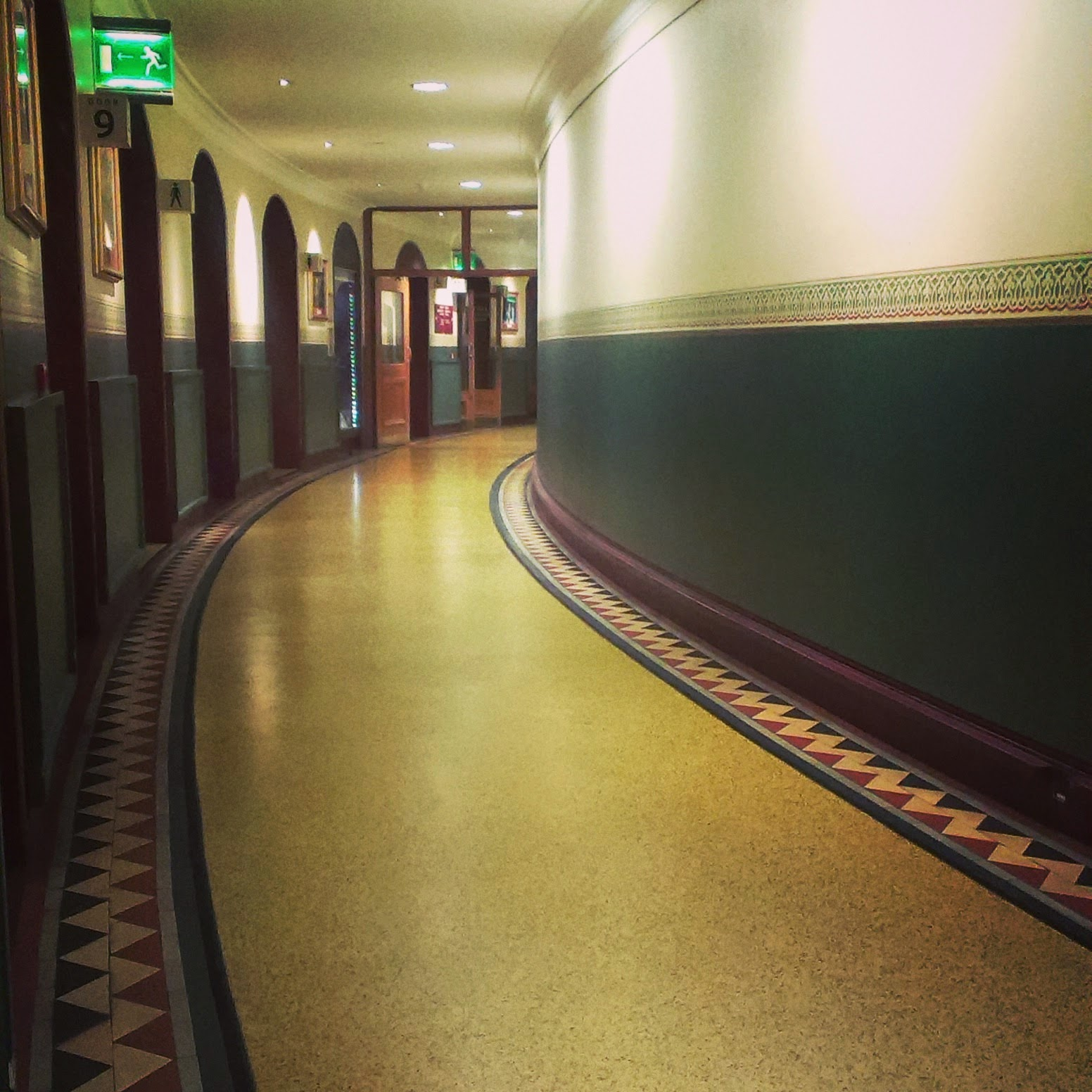 Royal Albert Hall corridors