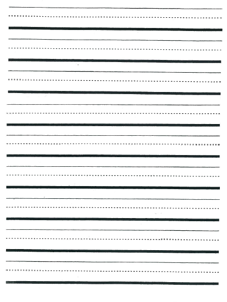 handwriting paper first grade